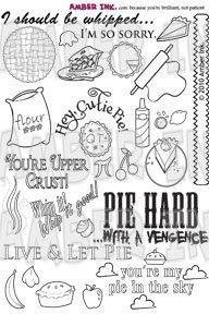 Amber Ink Cutie Pie Stamp Set