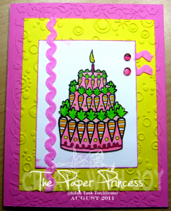 Amber Ink Project 5 - How Many Carrots Birthday Card