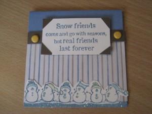 Real Friends - Winter Friendship Card
