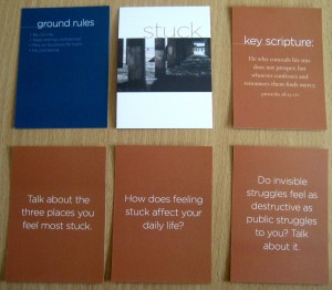 Sample of the Stuck See Cards