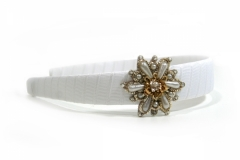 Reverse The Course - White Headband with Embellishment