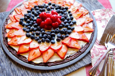 Red White And Blue Dessert Pizza