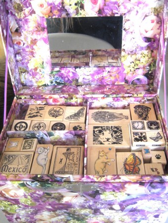 A Box Full Of Cat Stamps