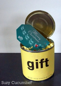 Suzy Cucumber Gift Cards In A Can