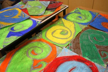 Fun & Easy Art Project - Oil Pastels & Water Colors