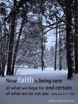Faith - Heb 11-1