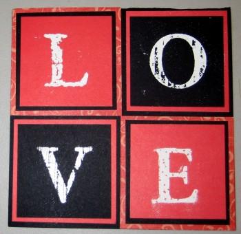 Embossed Love Card