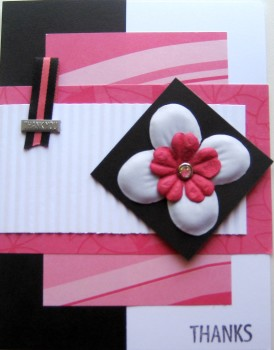 Pink Thanks Card