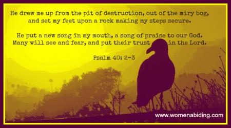 Psalm 40-2-3