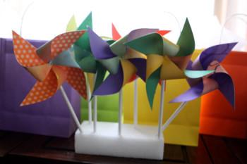 Watercolor Paper Pinwheel Pencils