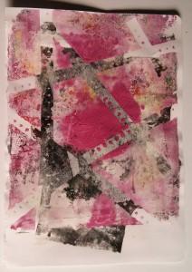 Gillian Pearce Gelli Plate Pink