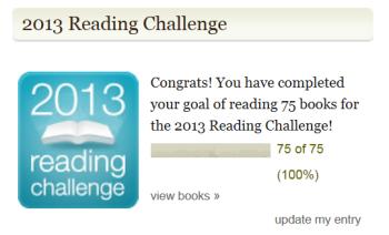 Goodreads Challenge - 75 Books Read
