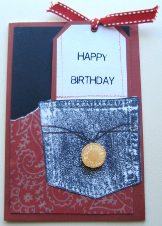Happy Birthday Card - Red White & Blue