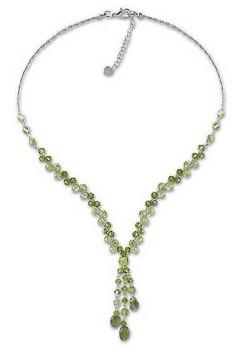 Novica Lime Ice Necklace
