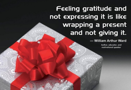 Feeling Gratitude Is Like A Present