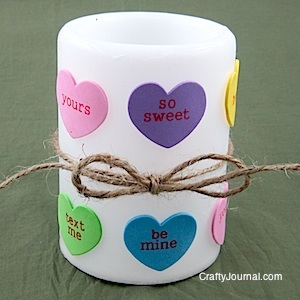 Valentine Heart Candle