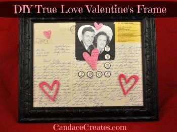 DIY Valentine Frame