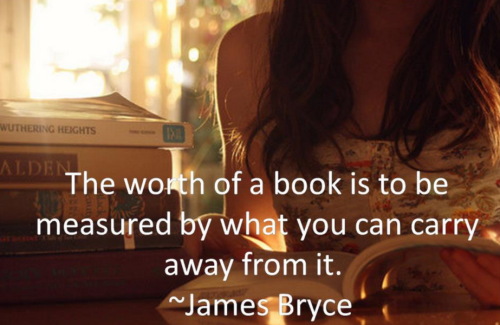 The Worth Of A Book Quote