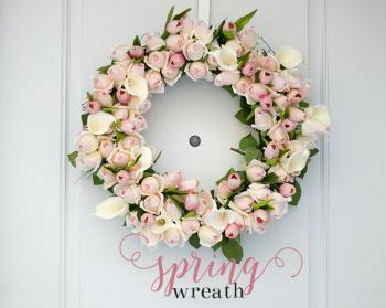 Spring Rosebud Wreath