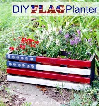 DIY Flag Planter