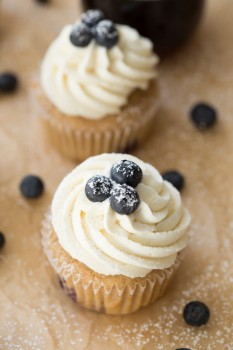 Blueberry French Cupcakes