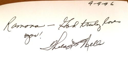 Thelma Wells Autograph