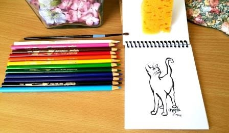 Creative Cat Coloring Book Gift Set Giveaway