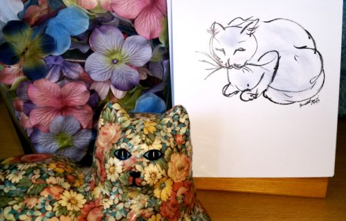 Creative Cat Sketch - Colored by Ramona at Create With Joy
