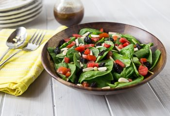 spinach-salad-pomegranate-balsamic