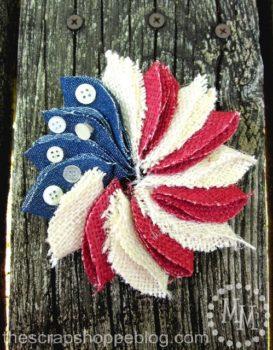 Mini Patriotic Pin Wreath
