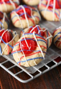Patriotic Almond Cookies