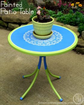 Painted Patio Table