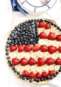 Red White And Blue Fruit Tart