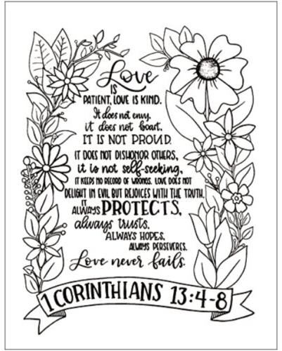 NIV Beatiful Word Coloring Bible For Girls - Sample Page