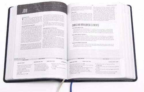 CSB Worldview Study Bible - Sample Page