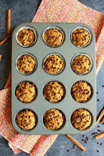 Pumpkin-Chocolate-Chip-Protein-Muffins