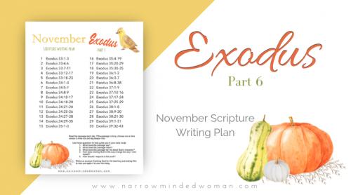 Exodus-Scripture-Writing