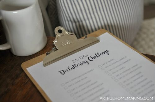 31 Day Decluttering Challenge